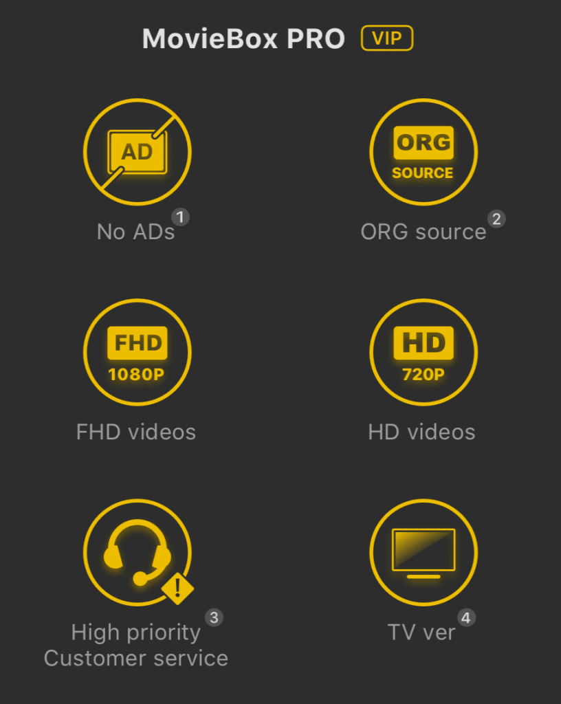 MovieBox Pro VIP version for Android Running smart phone